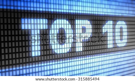 Top 10 sign - stock photo