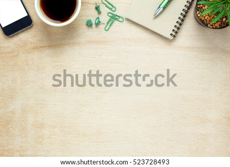 Office Table Top View Stock Images Royalty Free Images Vectors