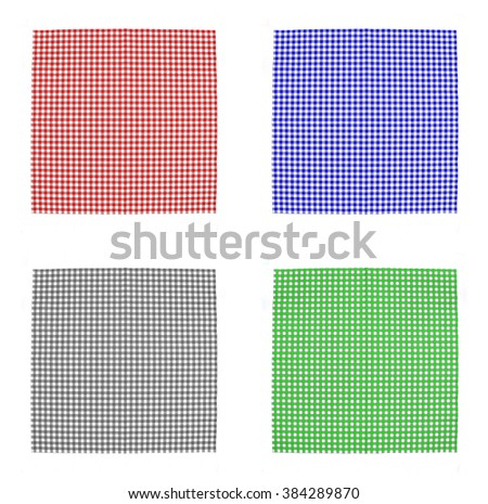 Top view checkered tablecloth pattern - stock photo