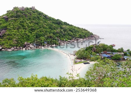 Top view from  viewpoint Koh Nanguan, Thailand - stock photo