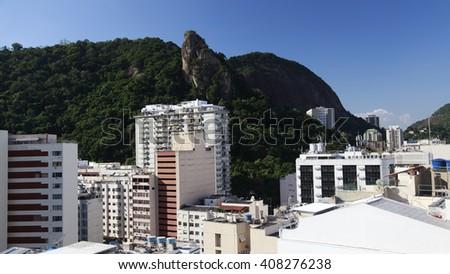 Top view in Copacabana, Rio de Janeiro, Brazil - stock photo