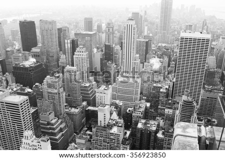 Top view, New York - stock photo