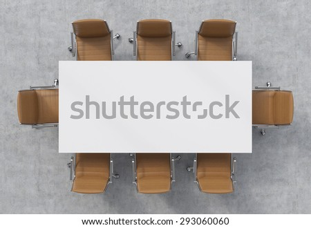 Top view of a conference room