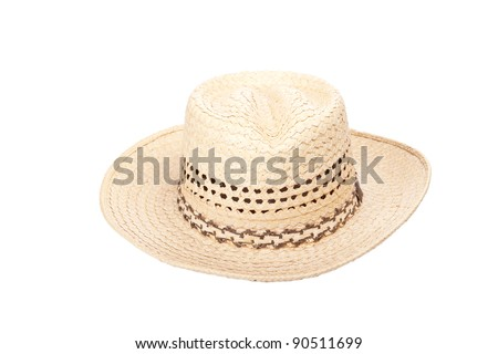 Top view of a cowboy hat. - stock photo