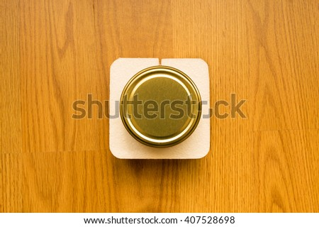 Top view of a jar lid - stock photo