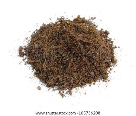 Top view of a mound a dirt. - stock photo