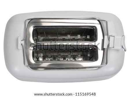 Top view of a toaster - stock photo