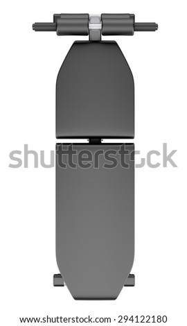 top view of adjustable gym bench isolated on white background - stock photo