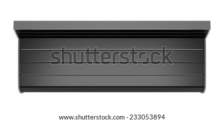 top view of black street bench isolated on white background  - stock photo