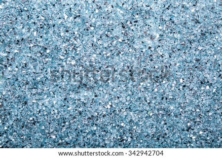 top view of blue glass texture background - stock photo