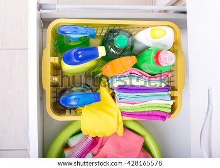 cleaning cabinets stock photos royalty free images