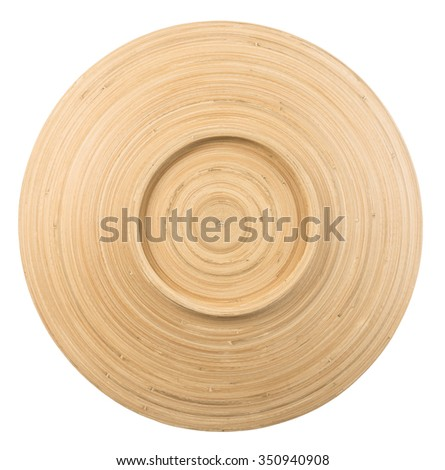 top view of  decorative dish  made from bamboo product