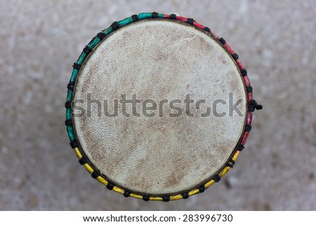Top view of djembe drum - stock photo