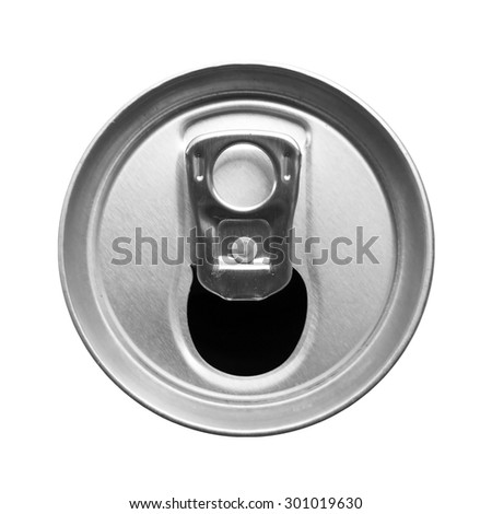 top view of drink can isolated