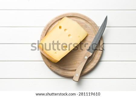 top view of edam cheese - stock photo