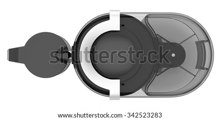 top view of electric juicer isolated on white background