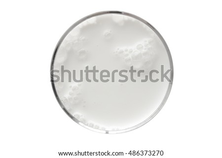 top view of glass milk / Glass of Milk From Above / clipping path