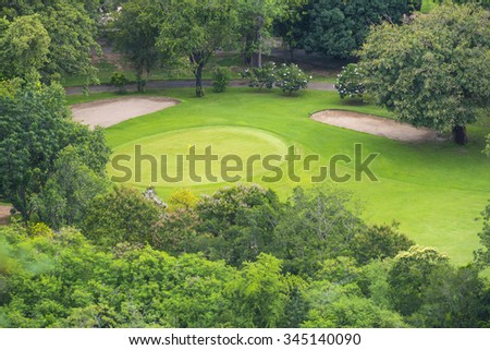 top view of golf club - stock photo