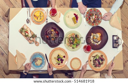 Dinner Table Top View