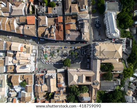 Top View of Pelourinho, Salvador, Bahia, Brazil - stock photo