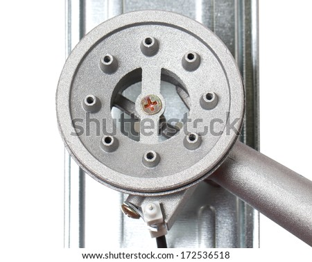Top View of Portable Stove Burner Without Fire. - stock photo