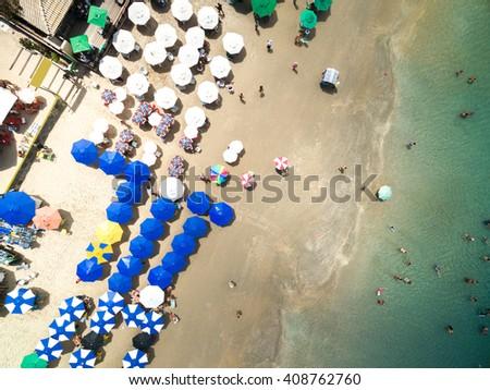 Top View of Porto de Galinhas, Pernambuco, Brazil - stock photo