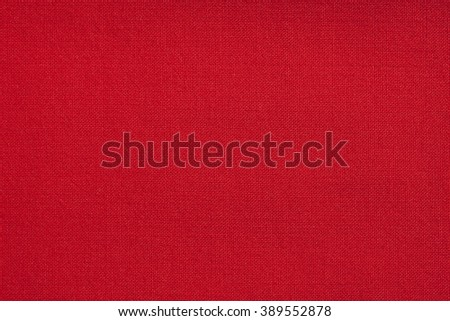 Top view of red fabric textile texture for background.