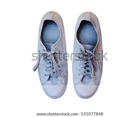 Top view of sneakers shoes