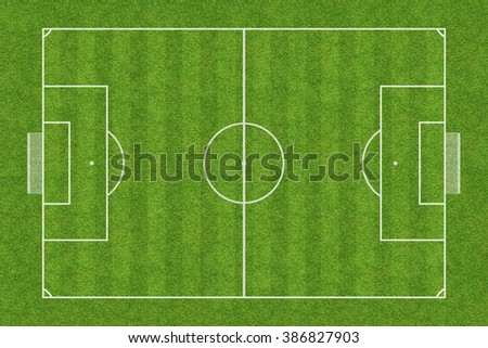 top view of soccer field