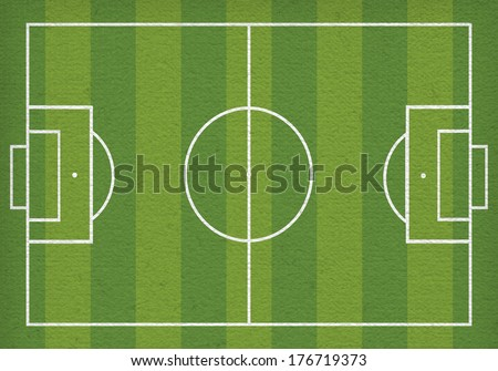 Top view of soccer field or football field -