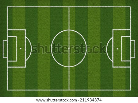 Top view of soccer field or football field