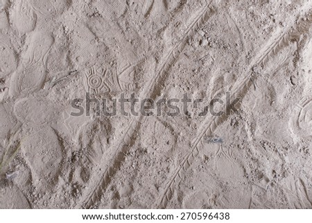 Top view of soil  - stock photo