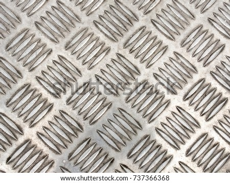 Top view of steel floor for abstract or background.