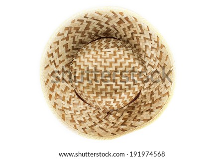 Top view of sun hat - stock photo