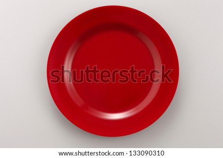 top view of the red plate