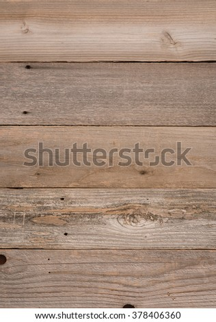 Top View Photo of horizontal Naturally Aged, Rough textured Rustic Brown Cedar Wood Boards as Background or Template with Blank Room or Space for your Design, Words, Text or Copy.  Vertical rectangle - stock photo
