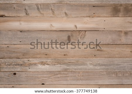 Top View Photo of Naturally Aged, Rough textured Rustic dull Brown Cedar Wood Boards for Backgrounds and Templates with Blank Room or Space for your Design, Words, Text or Copy.  Horizontal rectangle - stock photo