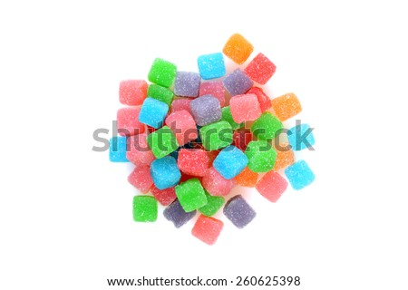 top view sour chewy candy - stock photo