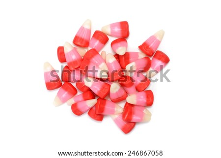 top view valentines candy corn - stock photo