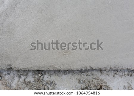 Top View Wet Concrete Cement Floor At Construction Site House Building