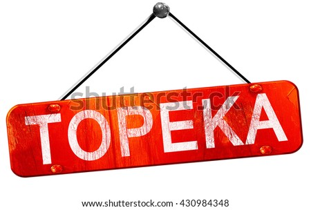 topeka, 3D rendering, a red hanging sign