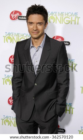 "Topher Grace at the Los Angeles Premiere of ""Take Me Home Tonight"" held at the LA Live Stadium in Los Angeles, California, United States on March 2, 2011."