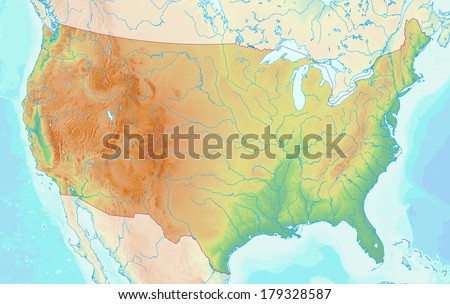 Usa Relief Map Stock Images RoyaltyFree Images Vectors - Us relief map