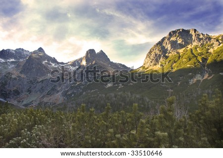 Tops of High Tatras Mountains in Slovakia