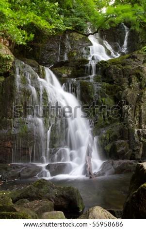 Torc waterfall in Ireland - stock photo
