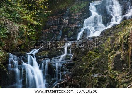 Torc Waterfall in Killarney National Park, Co.Kerry, Ireland  - stock photo