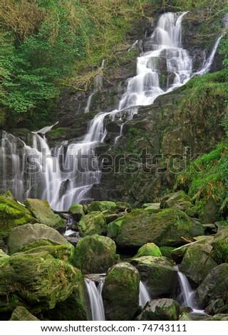 Torc waterfall in Killarney National Park - Ireland - stock photo