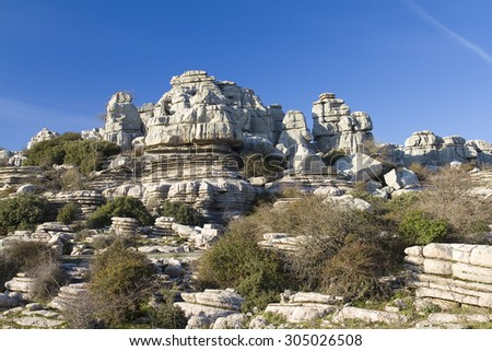 Torcal de Antequera, Spain. - stock photo