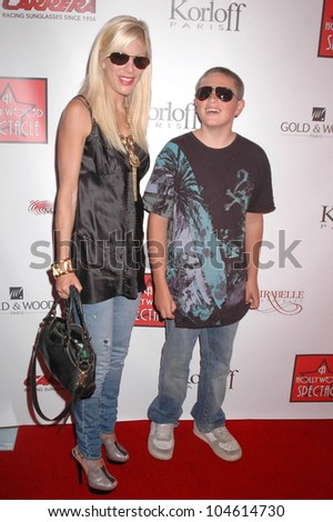 Tori Spelling and Jack McDermott at the Grand Opening of 'A Hollywood Spectacular'. A Hollywood Spectacular, West Hollywood, CA. 08-12-09 - stock photo