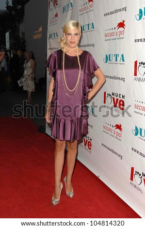 Tori Spelling at the 3rd Annual Bow Wow 'Wow Hollywood' Gala. The Lot, Hollywood, CA. 08-22-09 - stock photo